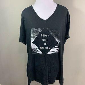 Today Will Be Amazing Womens DryTek Black T-Shirt